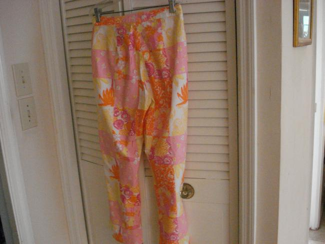 Lilly Pulitzer Cropped Pants Owls Bees Capris MULTICOLOR