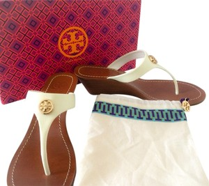 Tory Burch Cameron Ivory Wedges