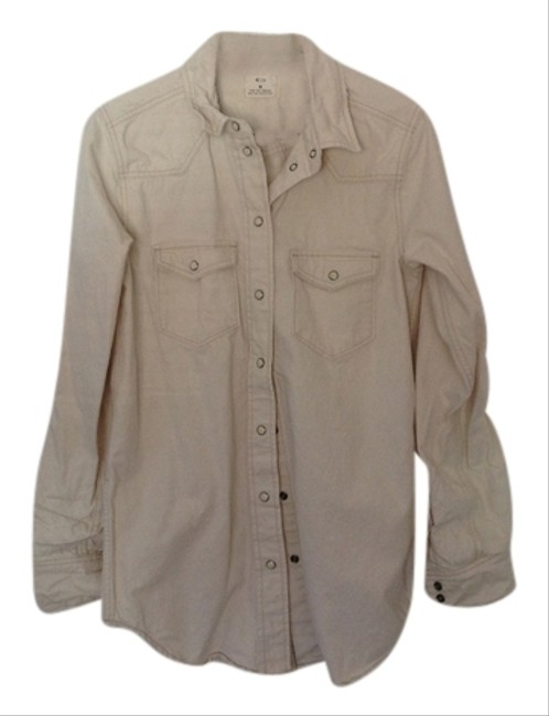 Pins and Needles Button Down Shirt White