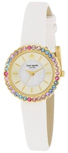 Kate Spade kate spade new york Women's Cornelia White Leather Strap Watch 27mm 1YRU0741