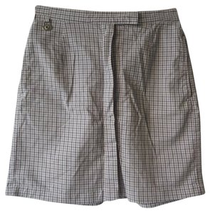 Liz Claiborne Skort White and Black Checkered Print