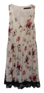 Zara short dress Flower printed on Tradesy
