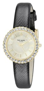 Kate Spade kate spade new york Women's Cornelia Black Leather Strap Watch 27mm 1YRU0743