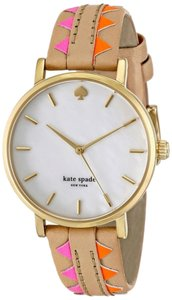 Kate Spade kate spade new york Women's Metro Multicolor Vachetta Leather Strap Watch 34mm 1YRU0503 v