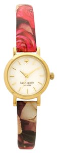 Kate Spade kate spade new york Women's Tiny Metro Floral Patent Leather Strap Watch 20mm 1YRU0525
