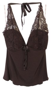 Candie's Lace Brown Halter Top