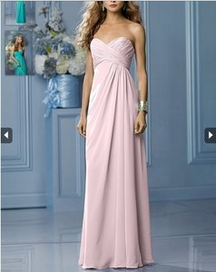 Wtoo Light Pink Crystal Chiffon Formal Bridesmaid/Mob Dress Size 4 (S)