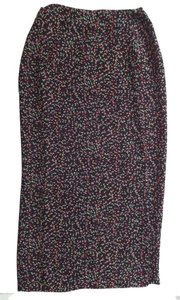 Charter Club Geometric Maxi Skirt Black with Multi Color Polka Dot Print