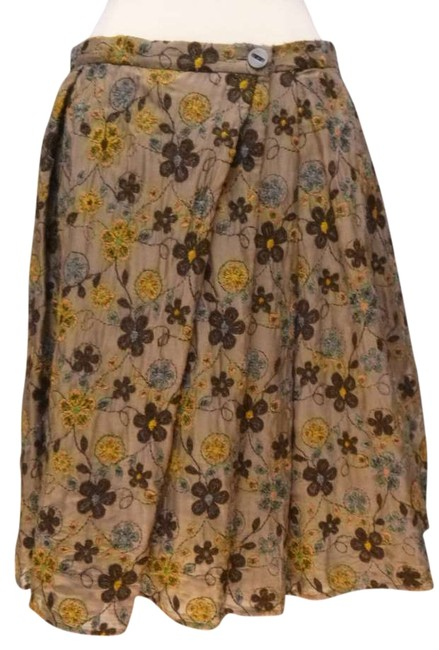 Tocca Embroidered Full Skirt brown
