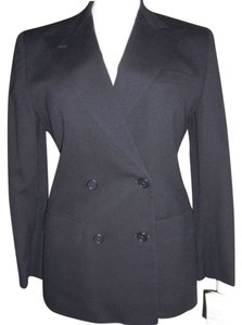 Lauren Ralph Lauren Vintage Worsted Wool Double Breasted Classic Navy Navy Blue Blazer