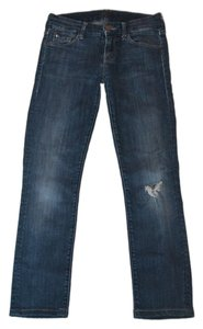 Mother Straight Leg Jeans-Distressed