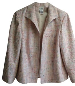 Liz Baker Lined Jacket Suit Pink Multi Colored Blazer