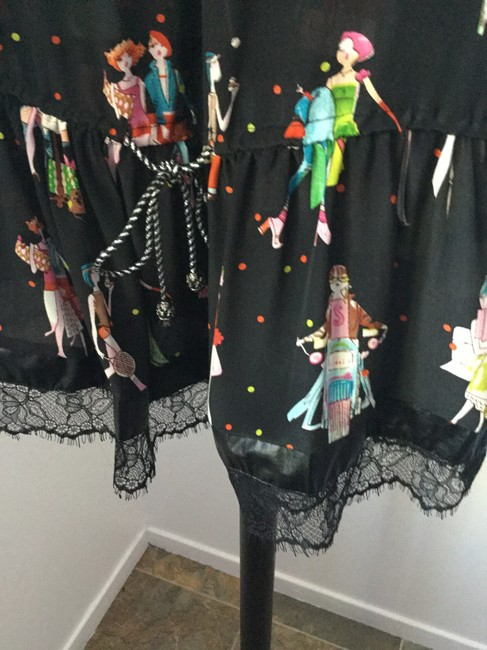 ZH short dress Black, Pink, Green, Blue, Orange, Yellow, Red Teenage Summer Faux Leather & Lace Travel Friendly Trendy on Tradesy