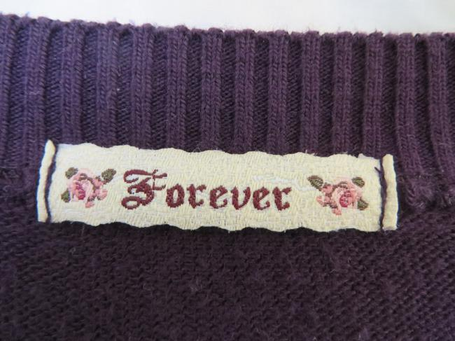 Forever 21 Cropped Plum Cardigan