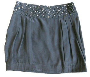 Silence + Noise Beaded Waist Mini Skirt Black