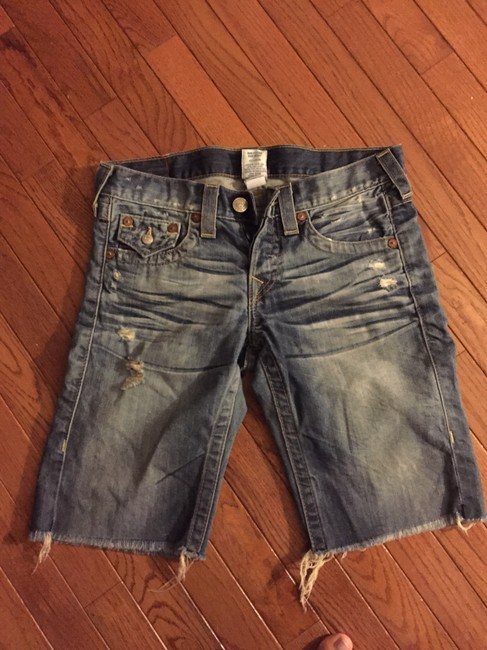 True Religion Denim Shorts-Distressed