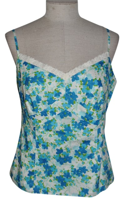 Preload https://item3.tradesy.com/images/ann-taylor-tank-top-blue-and-white-4013227-0-0.jpg?width=400&height=650