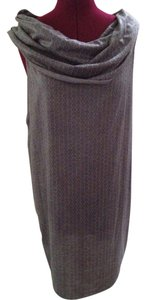 Min Agostini short dress Gray Cotton Blend Eclectic on Tradesy