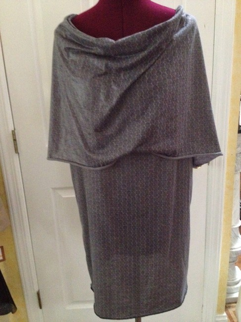 Min Agostini short dress Gray Cotton Blend on Tradesy
