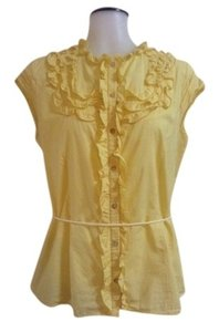 Tahari Top Yellow