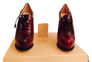 Prada Burgundy Platforms