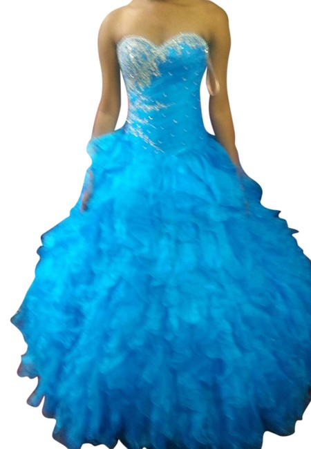 Mary's Bridal Organza Quinceanera Sweet16 Crystal Dress