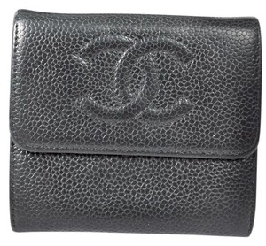 Chanel Chanel Cc bifold wallet Black caviar leather