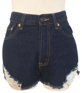 Love Culture Denim Shorts-Dark Rinse