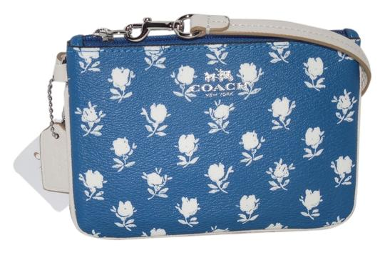 Coach Blue Floral Badlands 53152 Wallet Wristlet in Blue Ivory