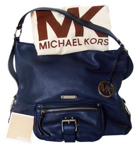 Michael Kors Austin Mk Leather Hobo Bag