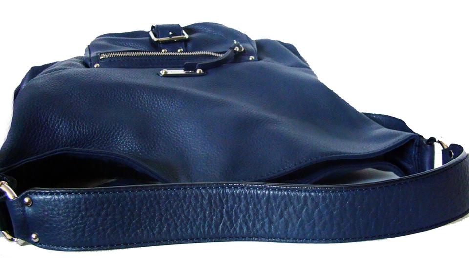 ada6c90984f4 Michael Kors Austin Tote - Large Slouchy Handbag Blue Leather Hobo ...
