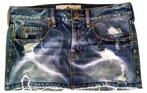 Hollister Mini Size 1 Mini Skirt denim