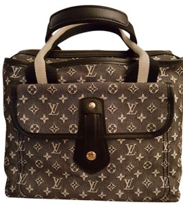 Louis Vuitton Monogram Vintage Satchel in Black and white