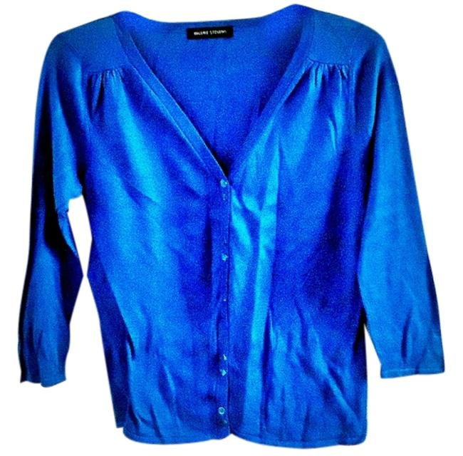 Preload https://item5.tradesy.com/images/valerie-stevens-turquoise-silk-stretchy-cardigan-size-6-s-4014799-0-0.jpg?width=400&height=650