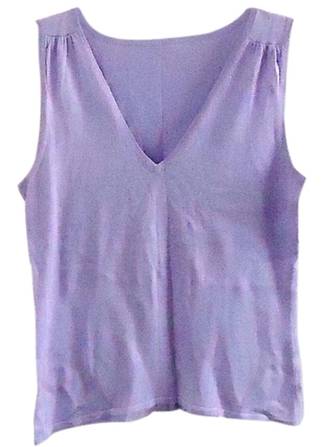 Valerie Stevens Silk Stretchy Top lilac