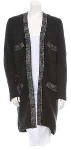 Chanel Charcoal Cashmere Sweater Cardigan