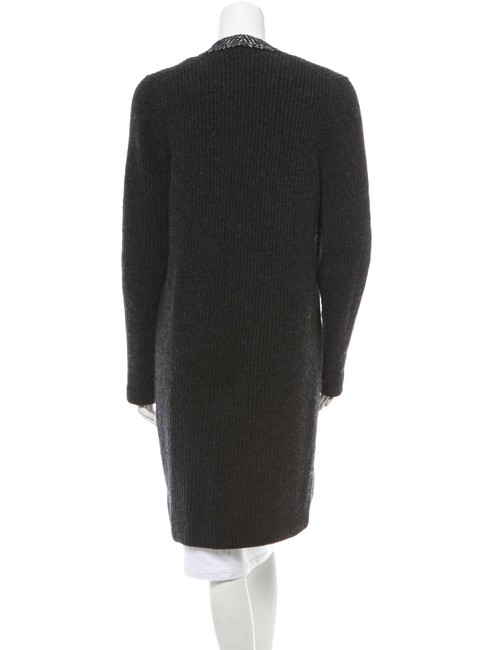 Chanel Charcoal Cashmere Sweater Coat Cardigan