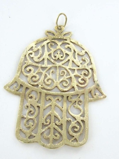 Other 14KT Yellow Gold Pendant HAMSA HAND OF GOD OR FATIMA HAND