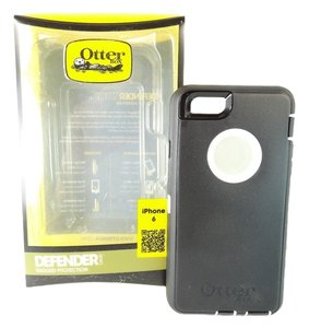 OtterBox Otterbox iPhone 6 Case Defender Series Rugged Protection Black White BOXED