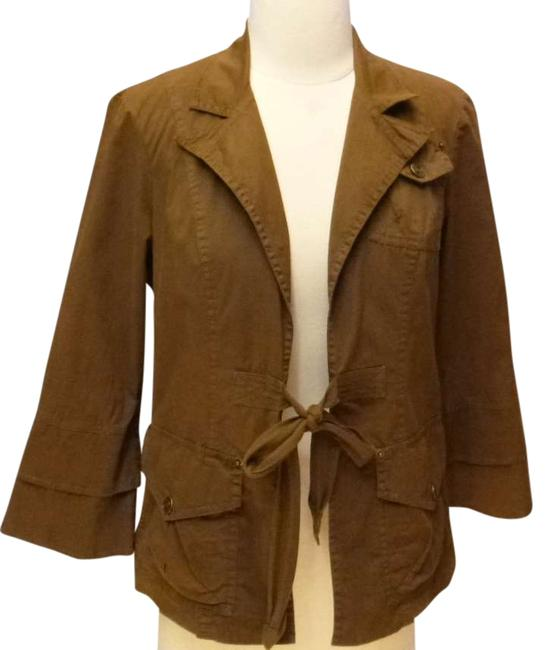 XCVI Small Brown Crop Sleeve Jacket