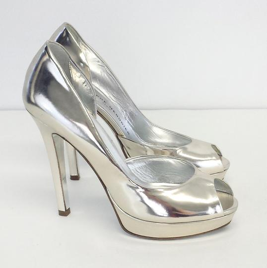 Rodolphe Menudier Patent Leather Peep Toe Heel Pumps