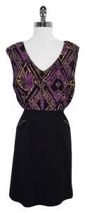 Shoshanna short dress Silk Sleeveless on Tradesy