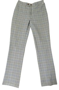 Guess Plaid Straight Pants Khaki