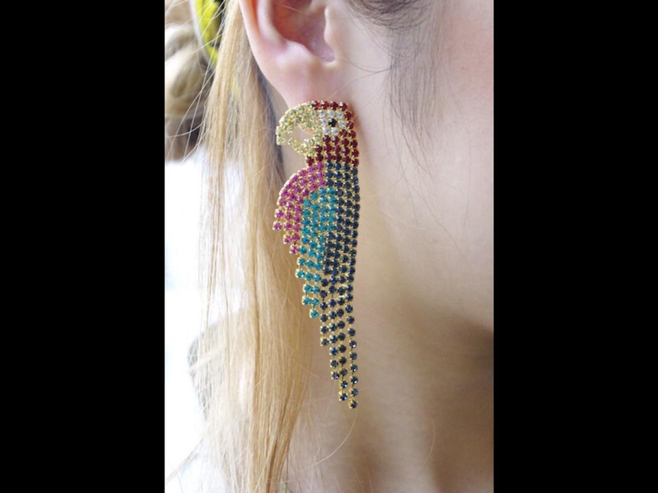 Elizabeth Cole Parrot Earrings 123