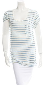 Rag & Bone T Shirt White Blue Stripes