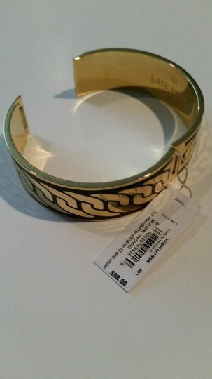 Kate Spade Kate Spade NY Putting On The Ritz Bangle Bracelet Black and Gold Tone CHAIN DESIGN NEW WITH TAGS