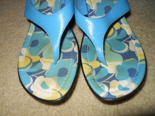 Kenneth Cole Reaction Leather Thong blue Sandals