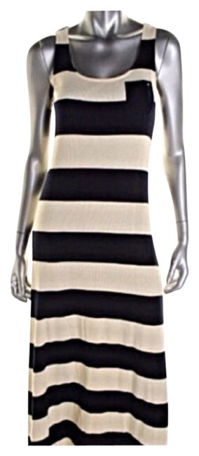 Ivory Navy Maxi Dress by Tommy Hilfiger