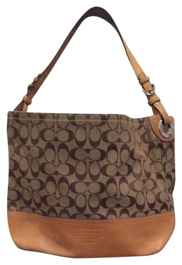 Preload https://item3.tradesy.com/images/coach-browntan-canvas-with-leather-trim-shoulder-bag-4016662-0-0.jpg?width=440&height=440