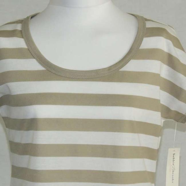 Bobbie Brooks Top White/Tan